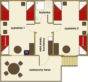 Bachus - domki na Kaszubach - 4 osobowe