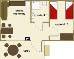 Bachus Chmielno - domek dwuosobowy